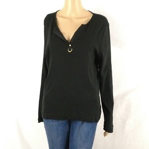 Lauren Ralph Lauren top size XL long sleeve black